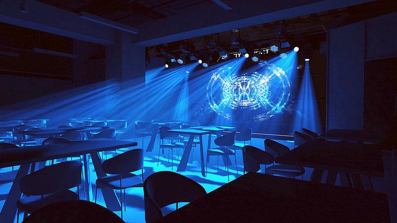E-sports venues with our moving head light, par light and studio light