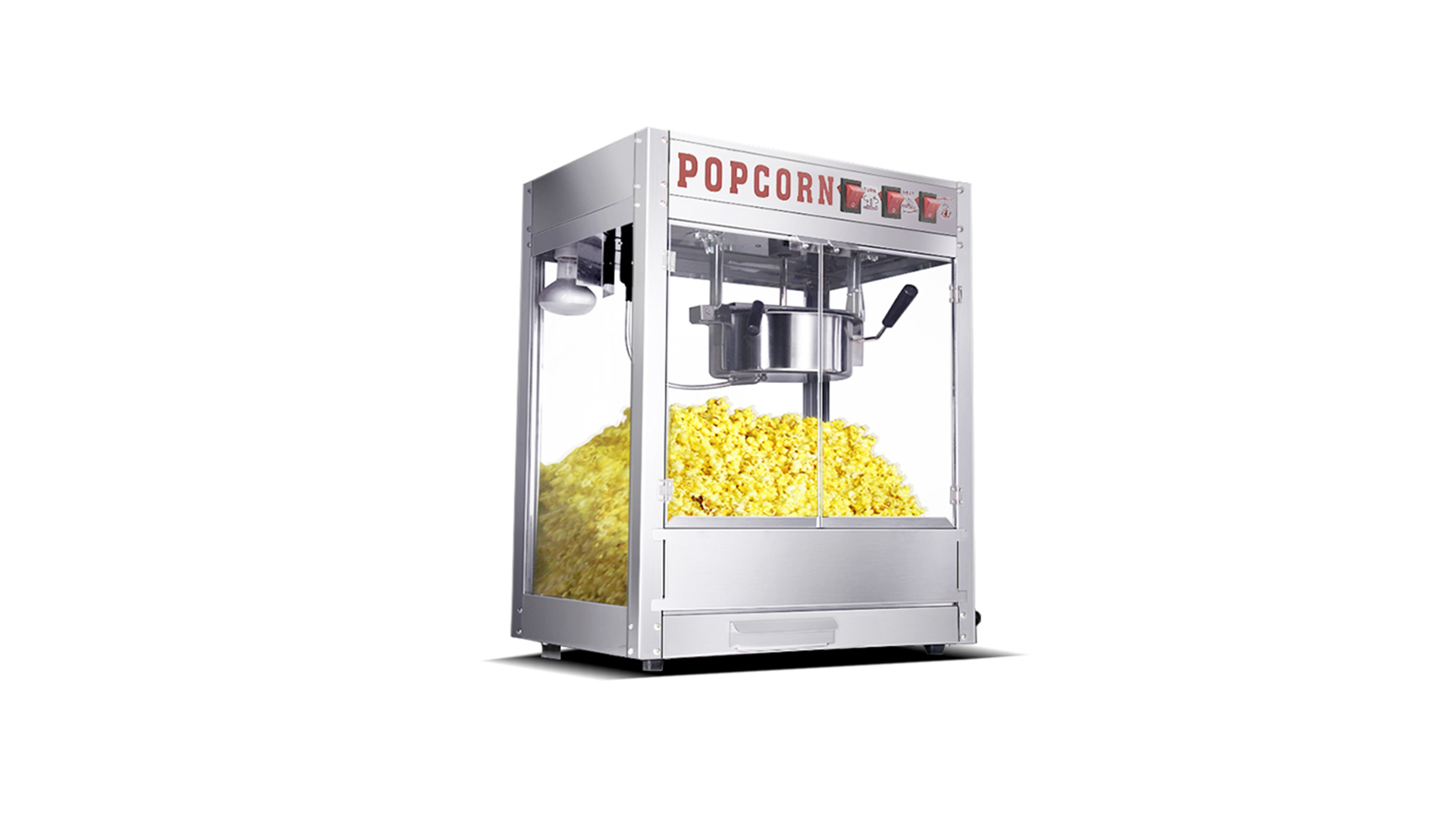 High quality popper popcorn machine electric popcorn maker snack making machine with warmer