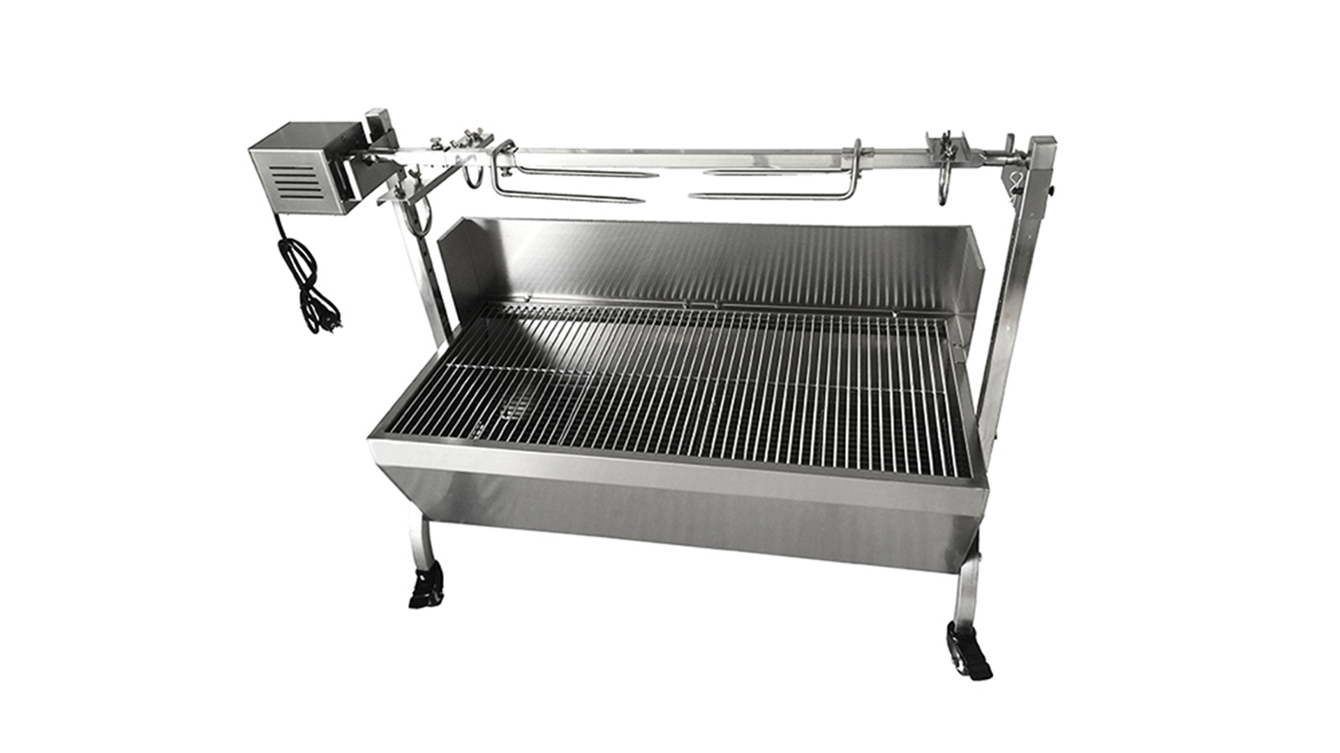 Stainless steel charcoal barbecue bbq grill 440 Lbs Bearing bbq pig spit roaster lamb grill With Electric Motor Grill