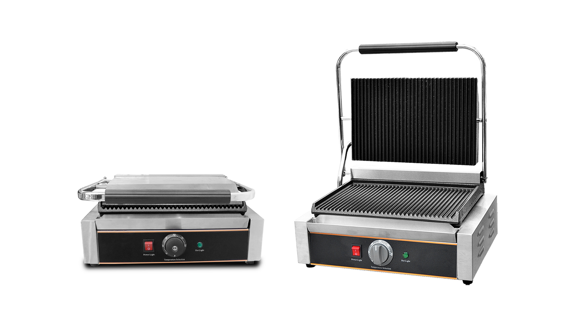 Stainless steel sandwich maker griddle gril electric contact grill