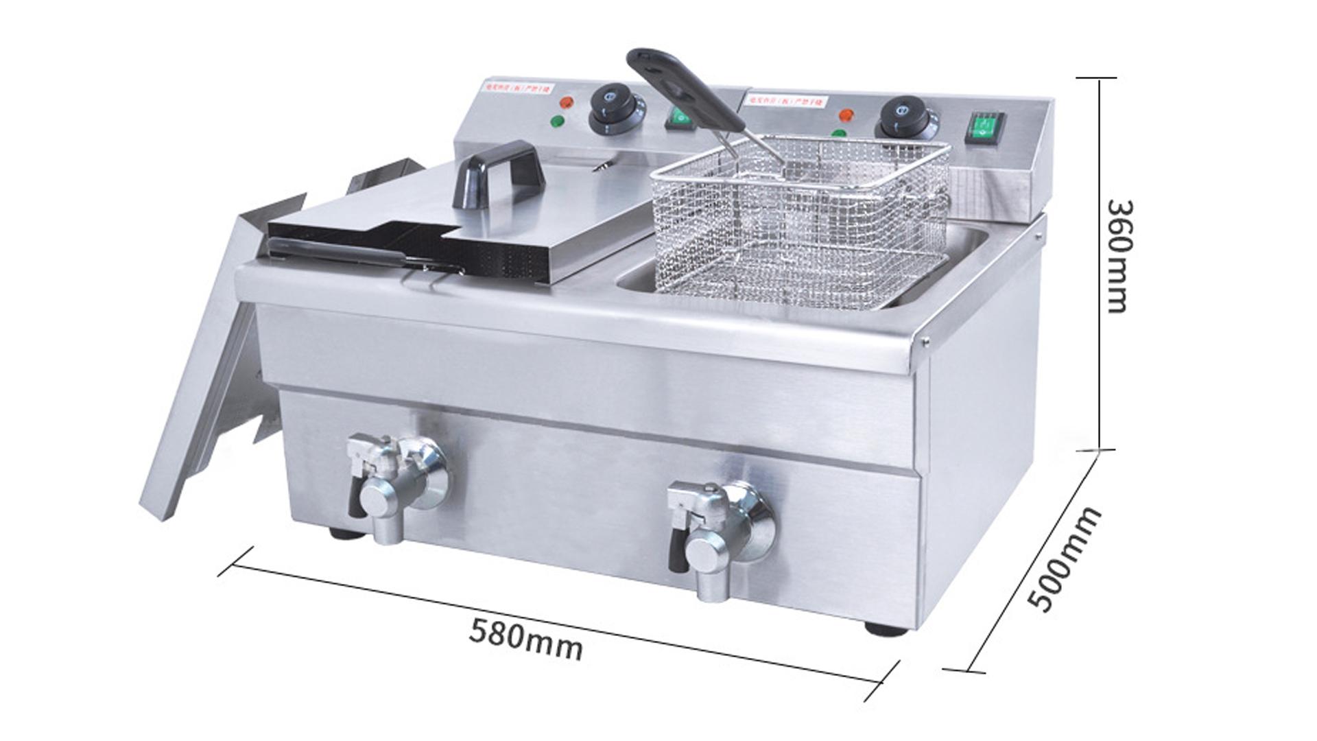 Benchu電動商用雙缸雙屏電動油炸鍋FY-6LFE / 2炸鍋炸薯條炸雞翼設備