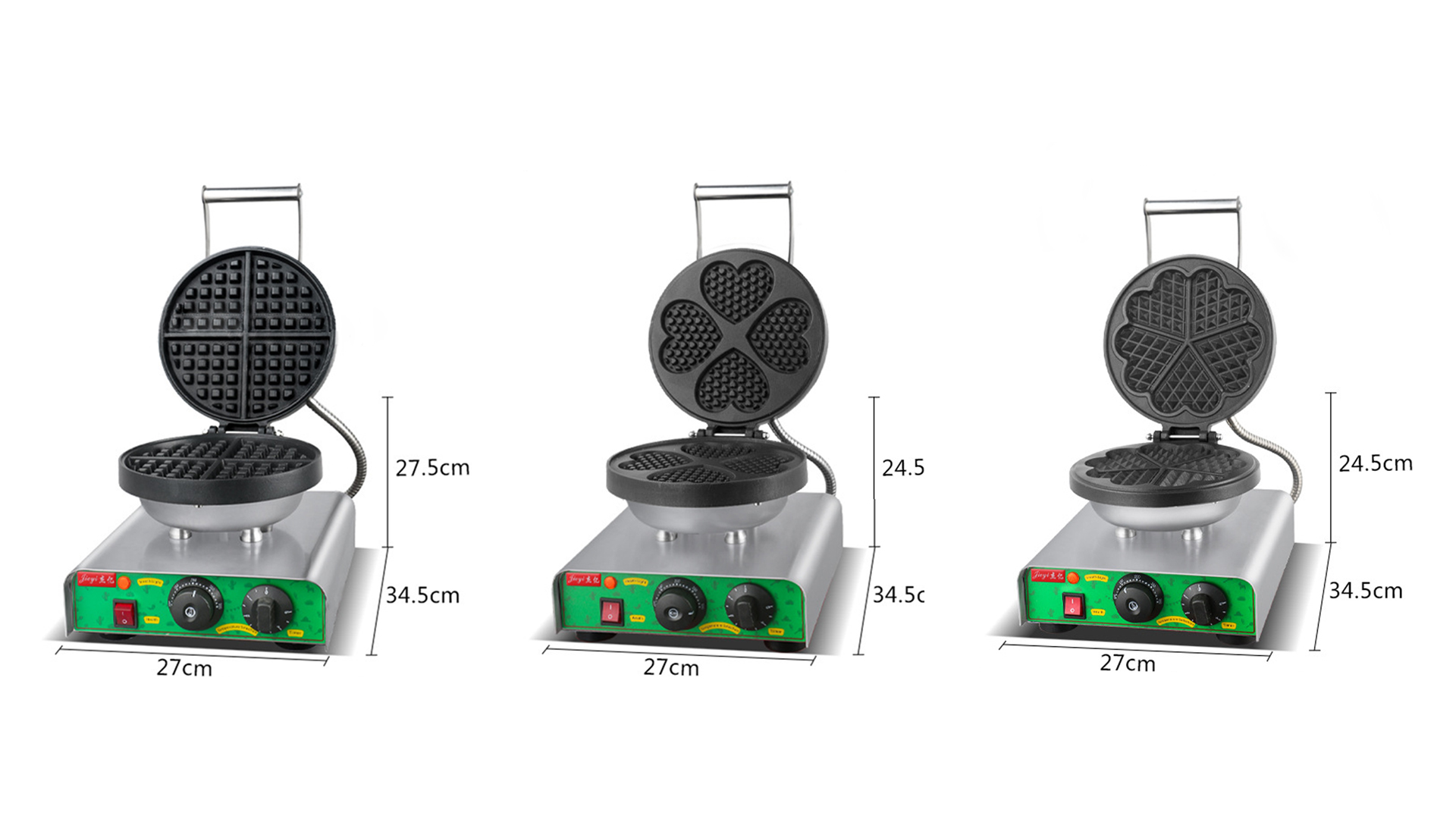 Single-head heart-shaped waffle oven FY-27B commercial electric grid cake scones machine equipment