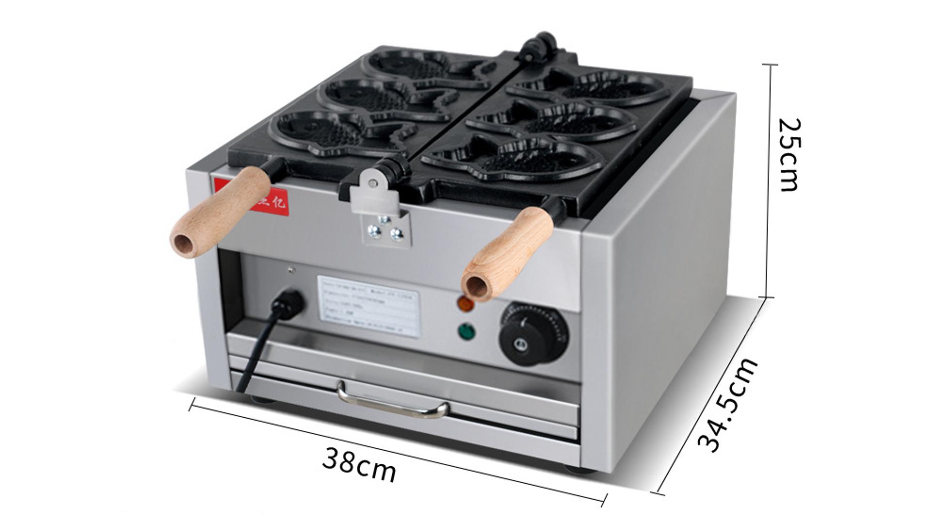 Commercial electric sea bream FY-1103A Korean small fish cake machine one plate three fish scones machine snack equipment