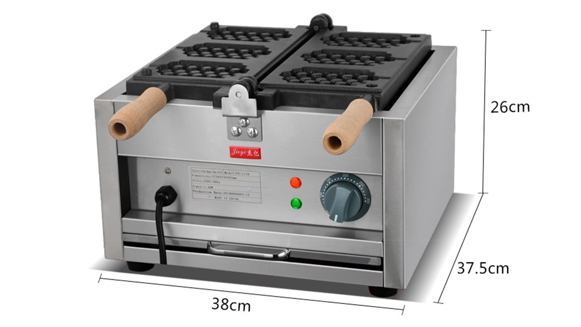 Three grid waffle FY-1110 commercial scones machine checkered cake machine snack equipment