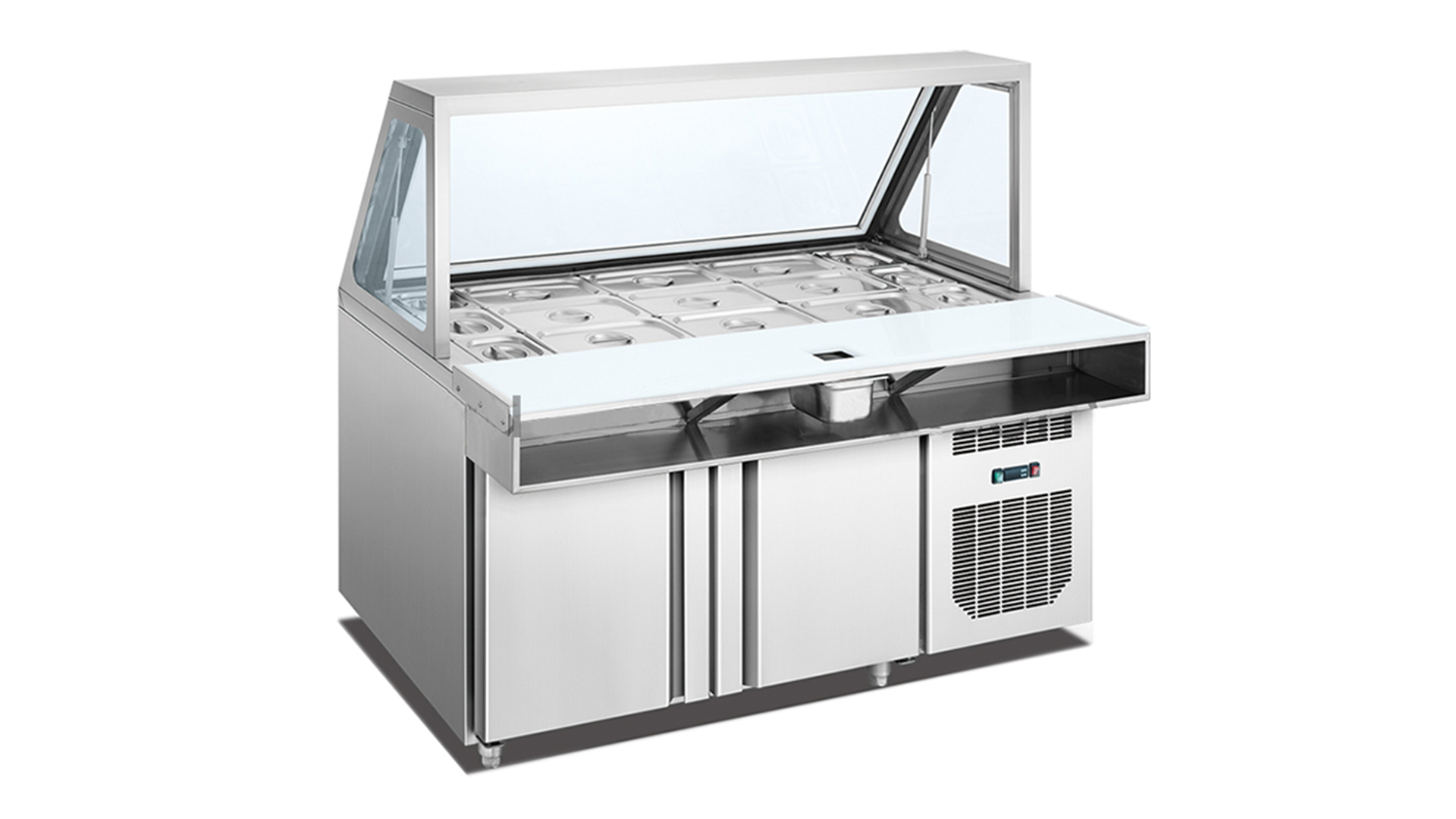 Air cooling type salad bar display counter/chiller