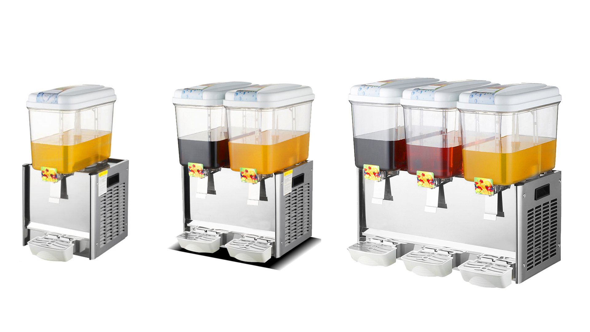 Automatic Commercial Cold Orange Juice Refrigerator Cafeterias 18 liters Cold Fruit Juice Dispenser ice masher | factory