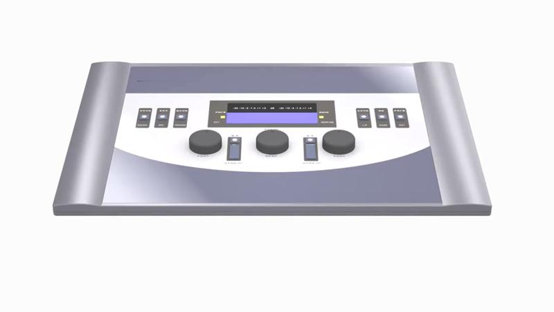 مقياس السمع التشخيصي الطبي المحمول للتوصيل الهوائي والعظام لاختبار السمع