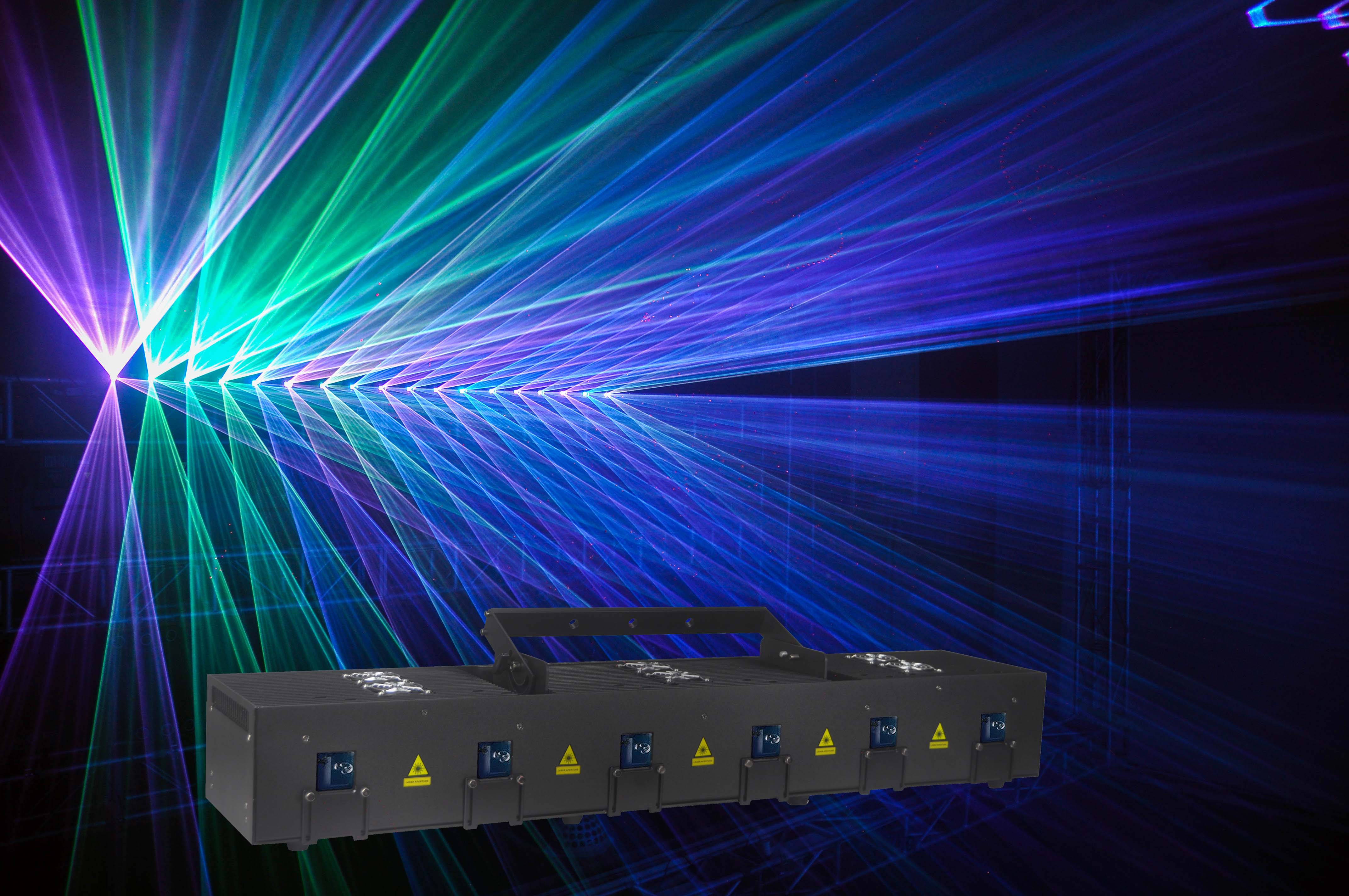 6 Head RGB Laser Array with scanner