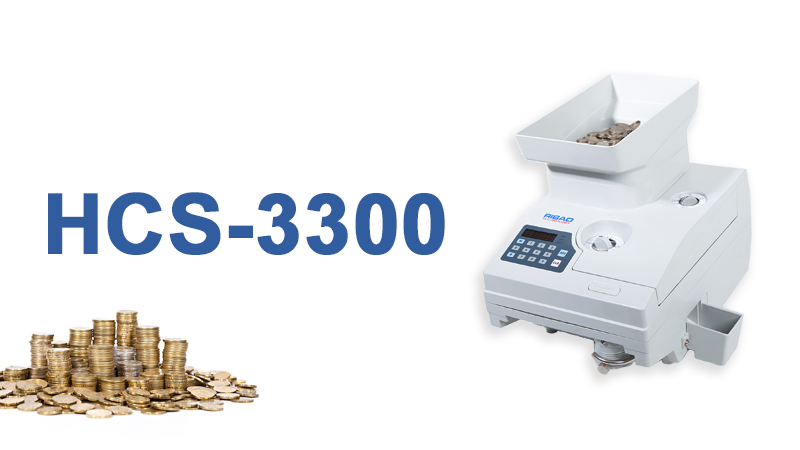Heavy-duty and high speed coin counting machine suitable for worldwide round coins and tokens HCS-3300
