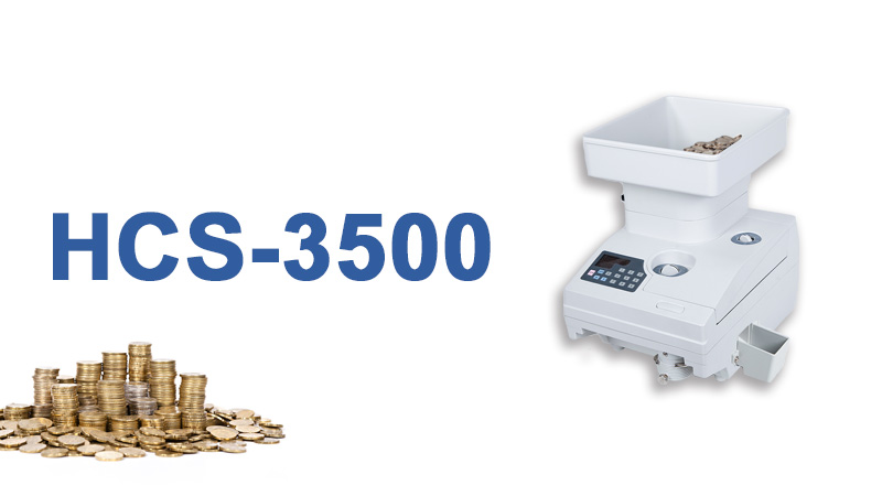 Heavy-duty and high speed coin counting machine with motorized hopper HCS-3500AH