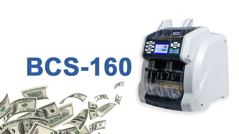 Non-stop 1+1 pocket banknote counter and sorter BCS-160