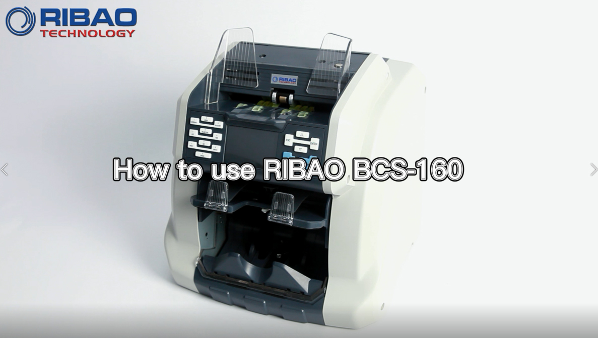 Operation instruction of RIBAO BCS-160 two pockets bill counter and sorter