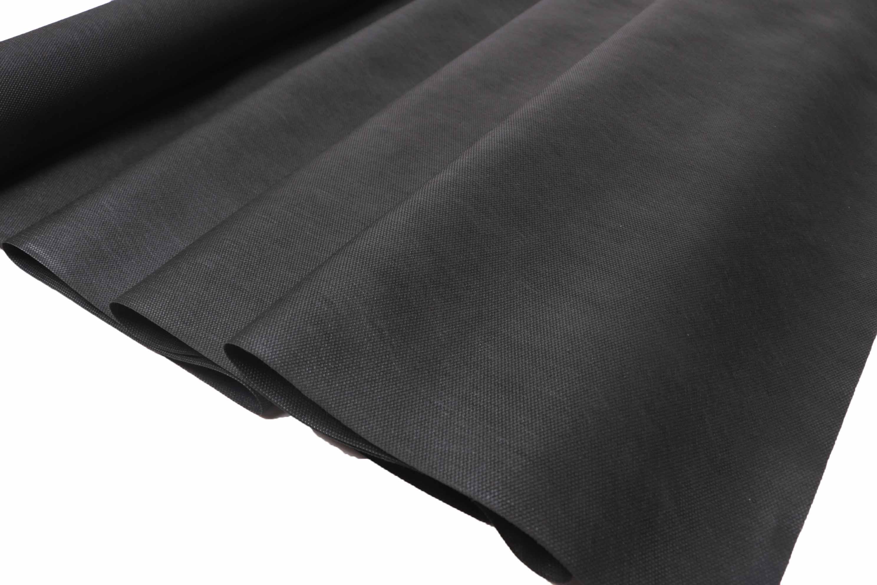 Black weed control fabric
