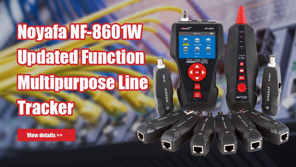 NOYAFA NF-8601W 업데이트 된 기능 다목적 라인 트래커 POE PING 테스터 8pcs 원격으로 케이블 길이 측정