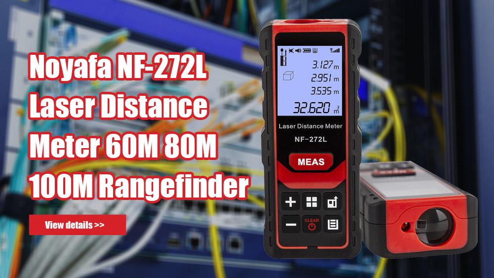 Noyafa NF-272L Laser Distance Meter 60M 80M 100M Rangefinder Tape Range Finder Measure Device Digital Ruler Test Tool