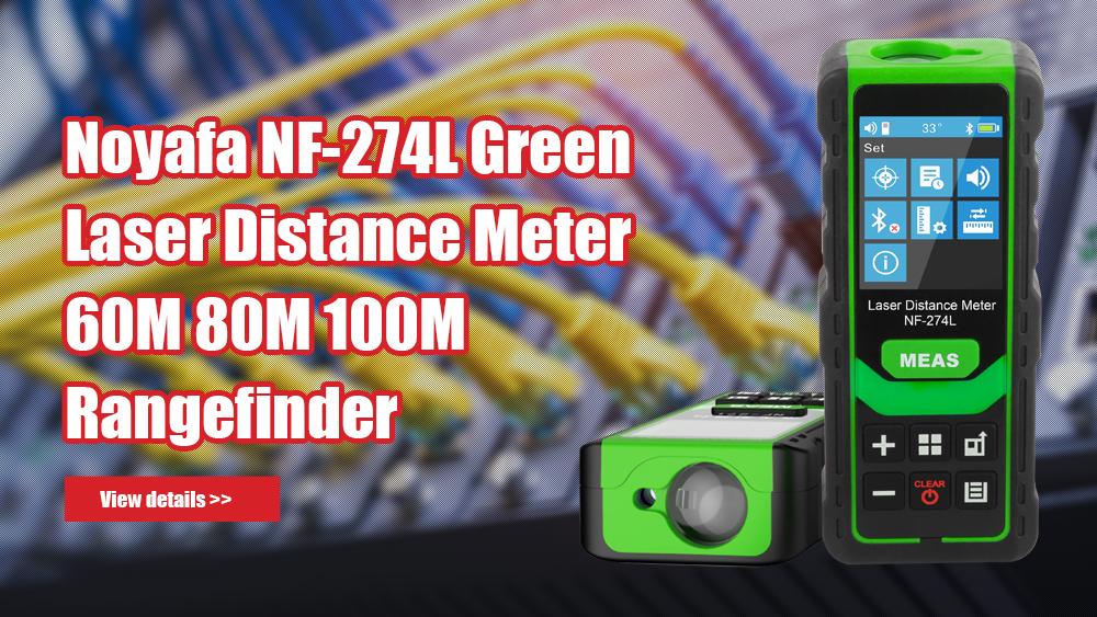 Noyafa NF-274L Green Laser Odległość Miernik 60m 80m 100m Rangefinder Laserowy zakres Laserowy Zmierz narzędzie testowe poziomu elektronicznego
