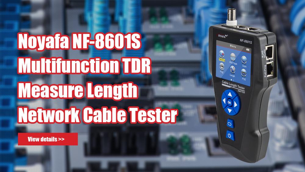 NOYAFA NF-8601S 다기능 TDR 측정 길이 POE / PING / POT 플래시 기능 전압 탐지기가있는 네트워크 케이블 테스터