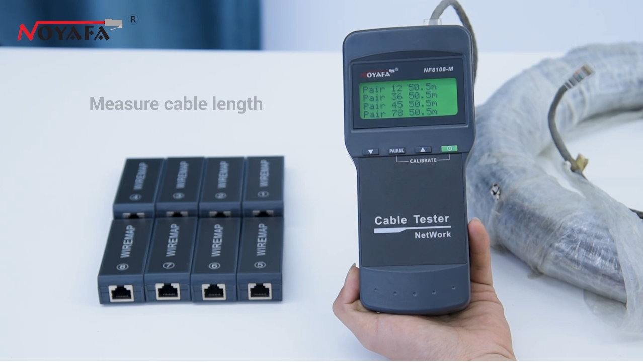 Best NOYAFA network cable tester with 8 pcs remote Supplier