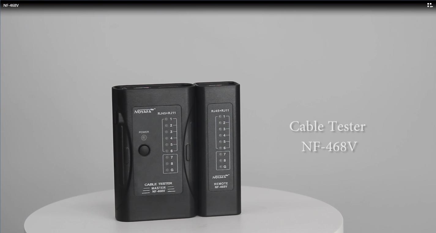 NOYFA NF-468V RJ45 Network Cable Tester dla LAN Telefon RJ45 / RJ11 / RJ12 / CAT5 / CAT6 / CAT7 UTP Wire Test Tool Cena
