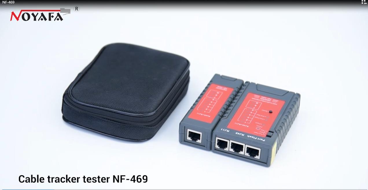 Tester kabli sieciowych RJ45 RJ11 RJ12 UTP LAN Cable Networking Tool Noyafa NF-469
