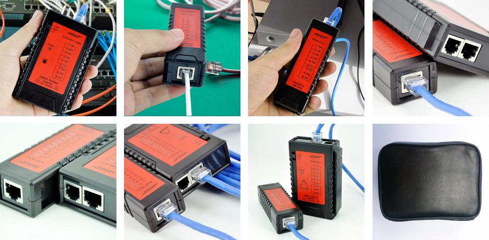 Tanie stpt UTP Network LAN Tester kabla Linia telefoniczna Detektor Telecom narzędzie NF-468