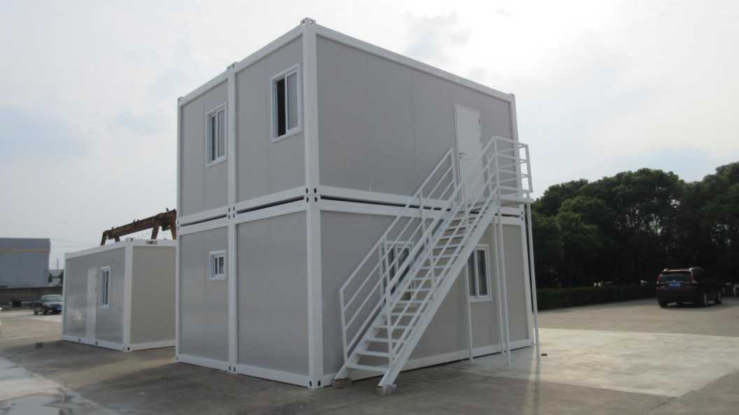 Customized Stack 2 floors flat pack containers manufacturers FromChina