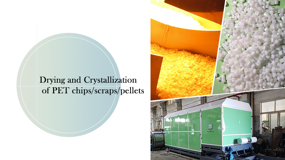 Drying and Crystallization of PET chips/scraps/pellets