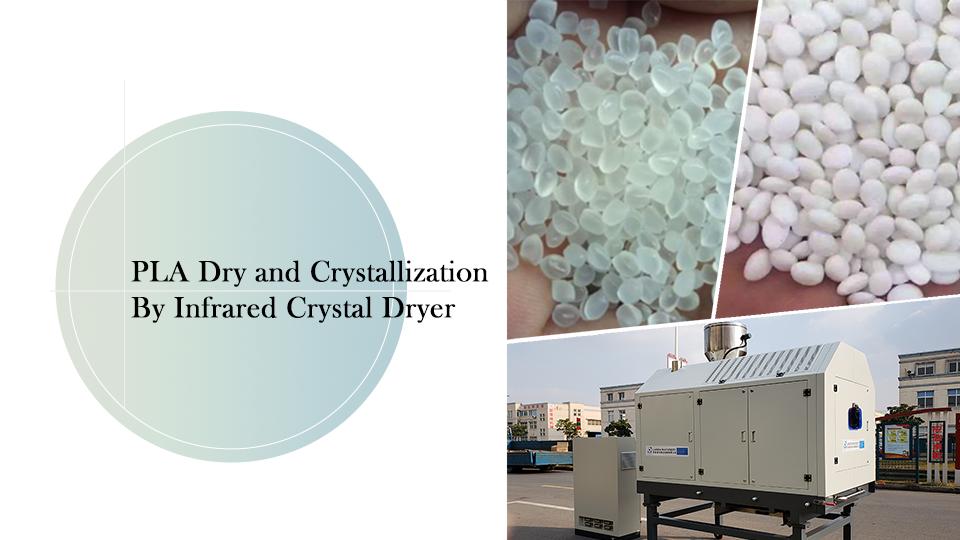 Kızılötesi kristal kurutucu tarafından kuru ve kristalizasyon
