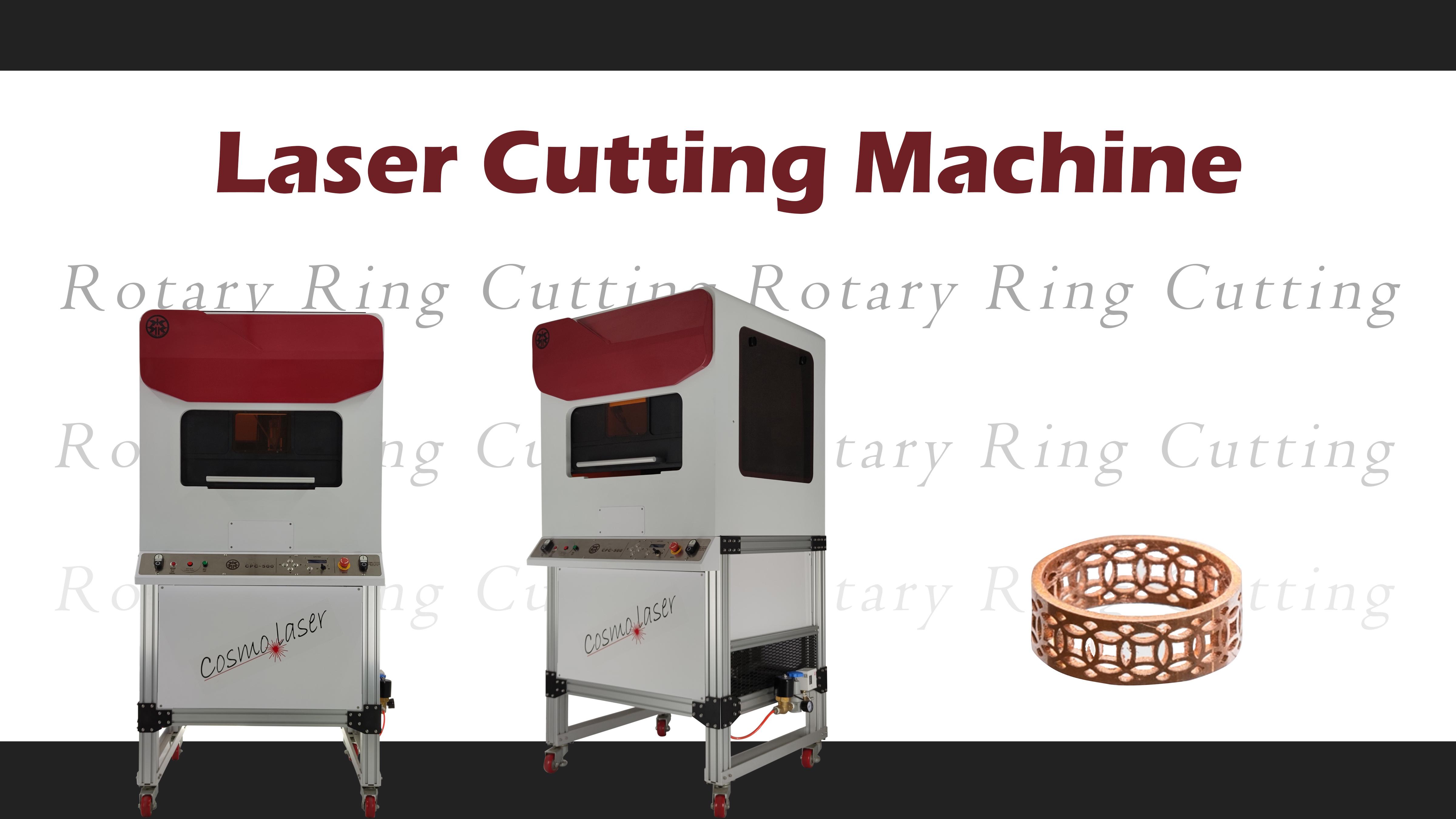 Rundringschneiden durch Laserschneidemaschine (Modell: CPC-500)