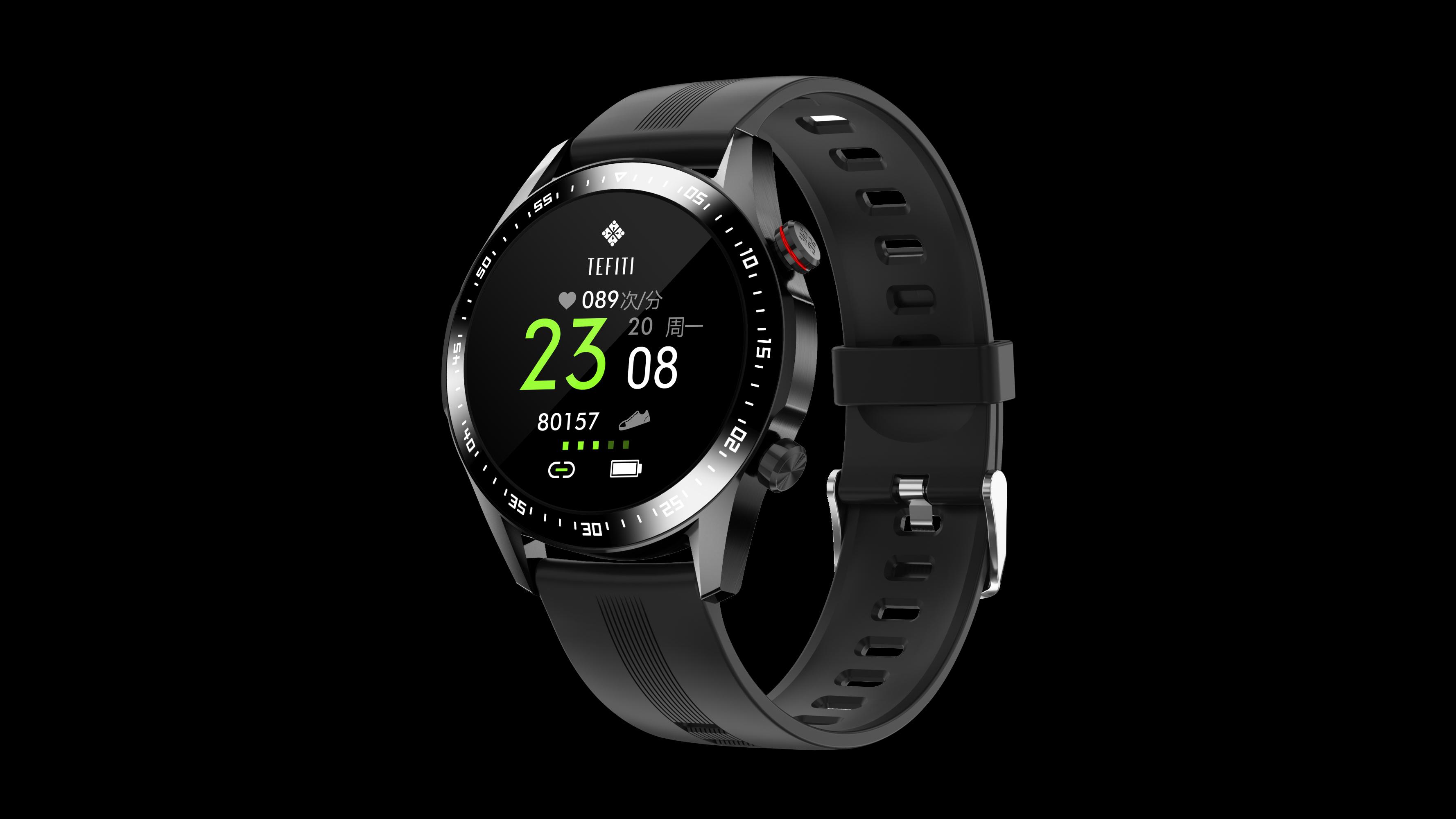 Leather Round Screen BP Smart Watches Men Wrist Smartwatch BT Call Music Phone watches Business Smart Watch
