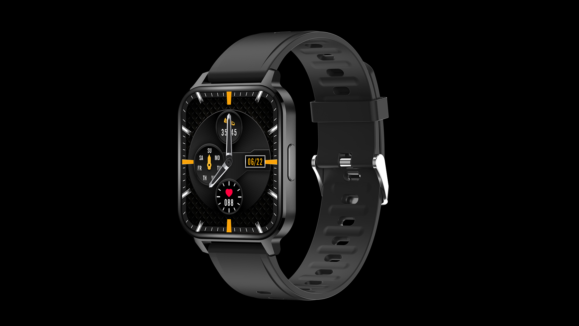 1.7inch Slim Design Smartwatch 24 Sports Modes Custom Dial Real-time Monitor SpO2 Heart Rate Fitness Tracker Smart Watch Q18