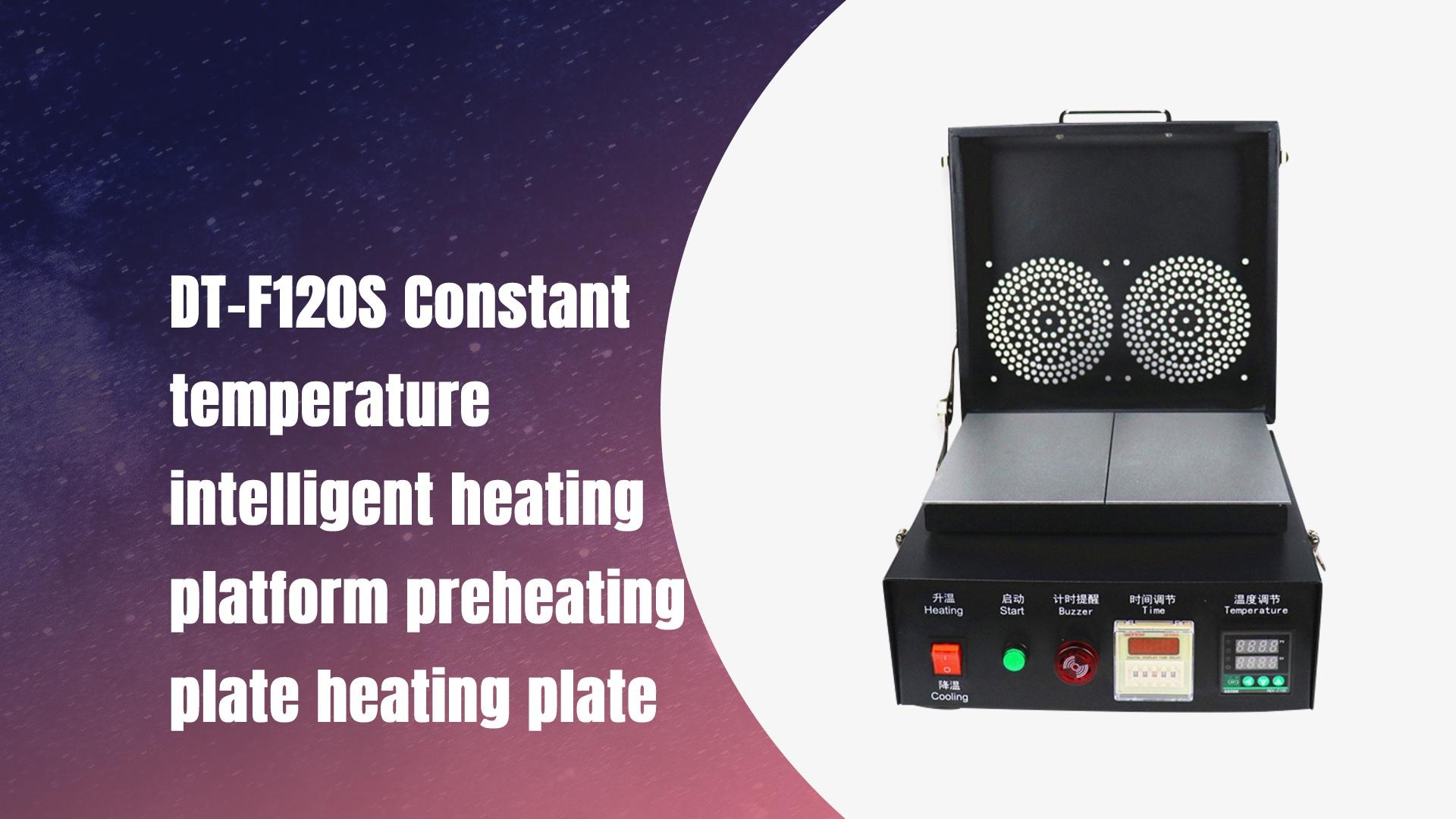 DT-F120S Suhu malar Platform pemanasan pintar Plat plat pemanasan plat