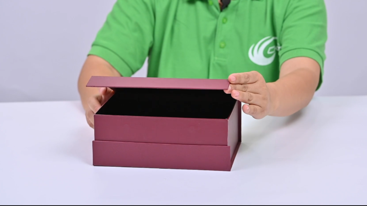 Caja de envasado de vino magnético de lujo conjunto de botellas de vino caja de regalo -ckt empaquetado