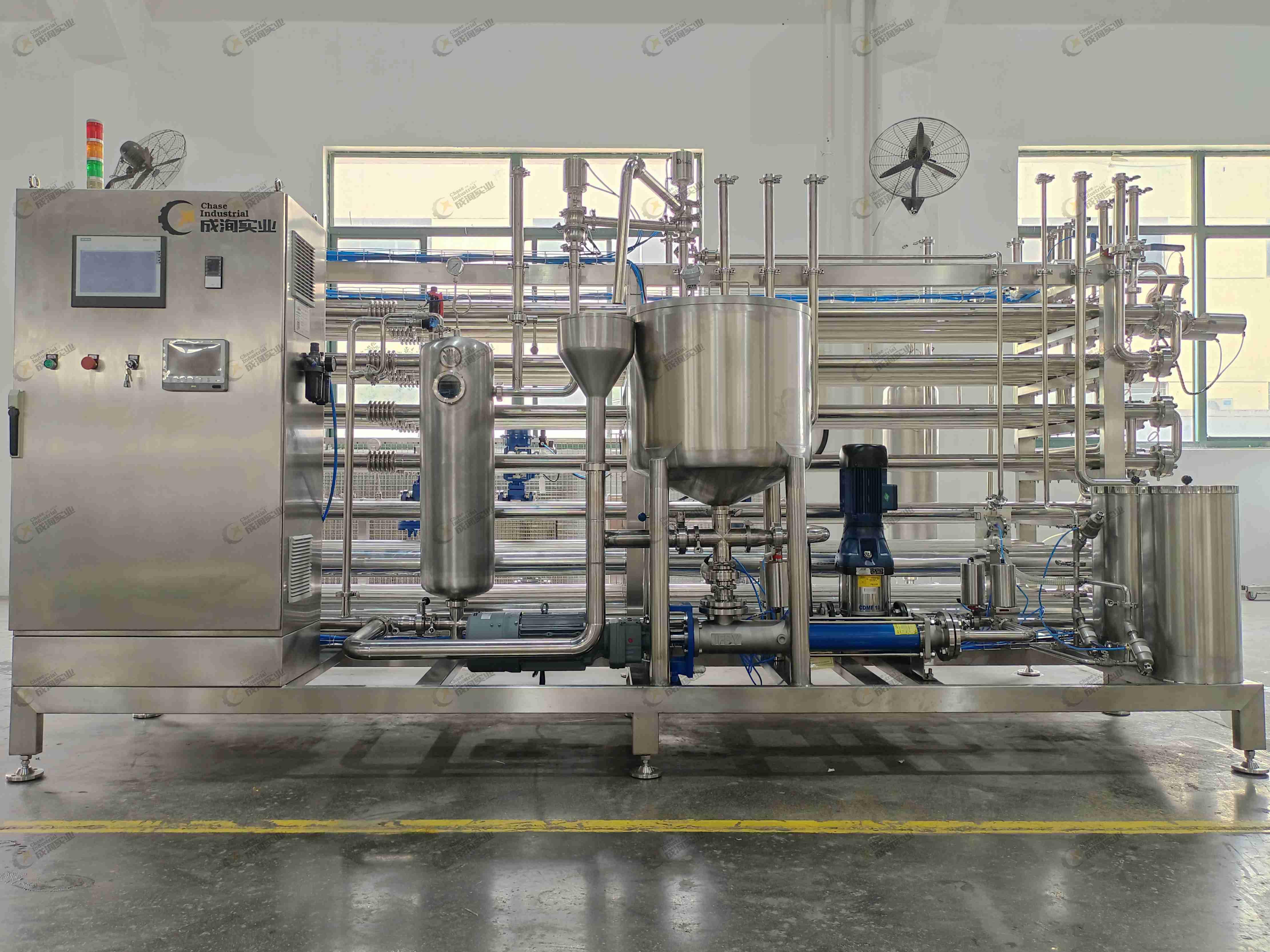 Sterilizzatore UHT e sistema di riempimento asettico per la lavorazione del succo di bacche di goji