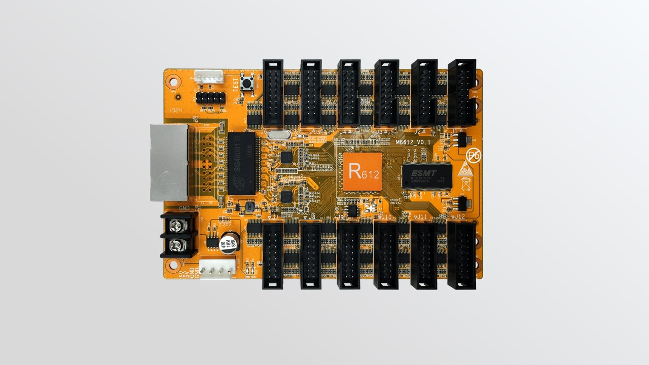 HD-R612 تلقي بطاقة لمرسل عرض اللون الكامل