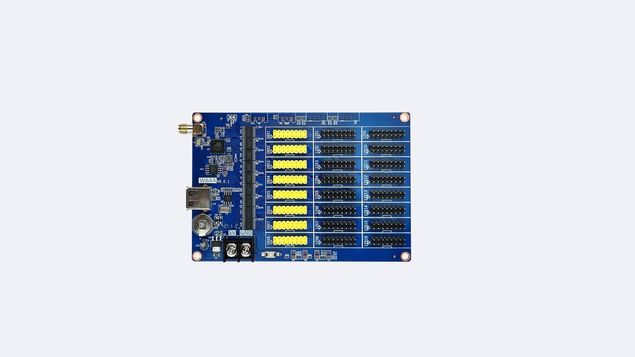 بطاقة التحكم LED أحادية المزدوجة HD-W64A - شنتشن هويدو التكنولوجيا المحدودة