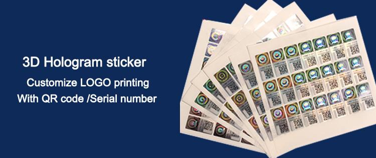 Best Custom digital printing sticker printing label Roll Label Round Stickers/Anti-Counterfeiting Hologram Sticker Factory Price - Genuine Hologram
