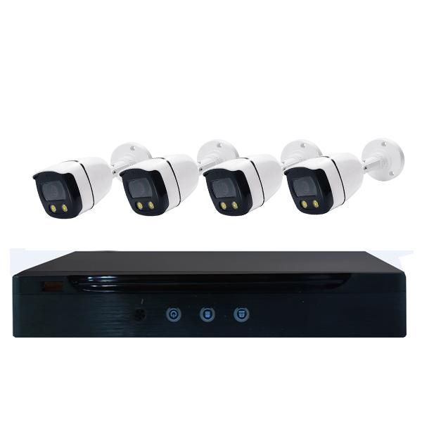 Système de caméra CCTV à 4 canaux 1080P avec microphone et couleur Night Vision