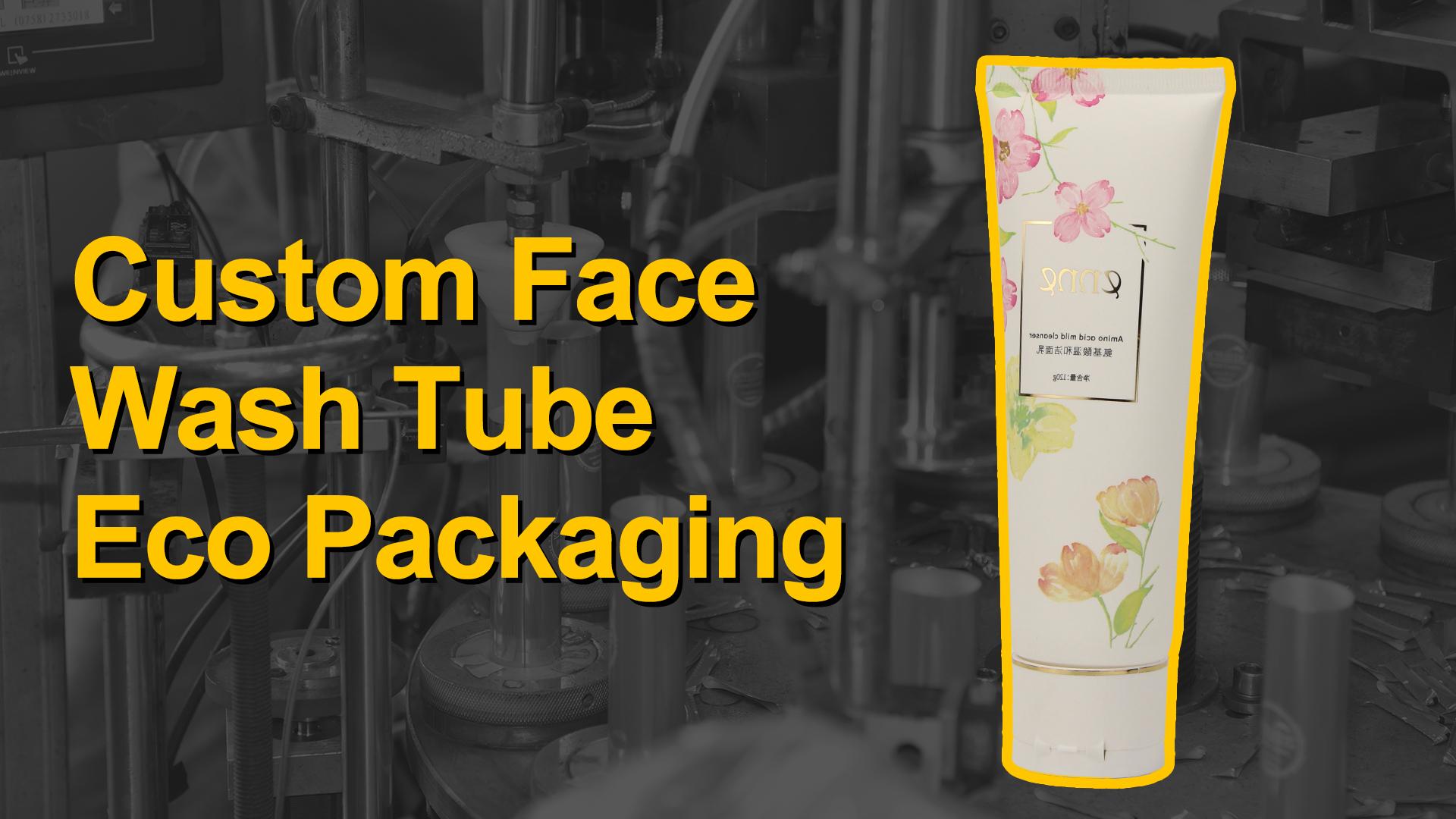 D40MM مخصص الوجه غسل أنبوب التعبئة والتغليف البيئية