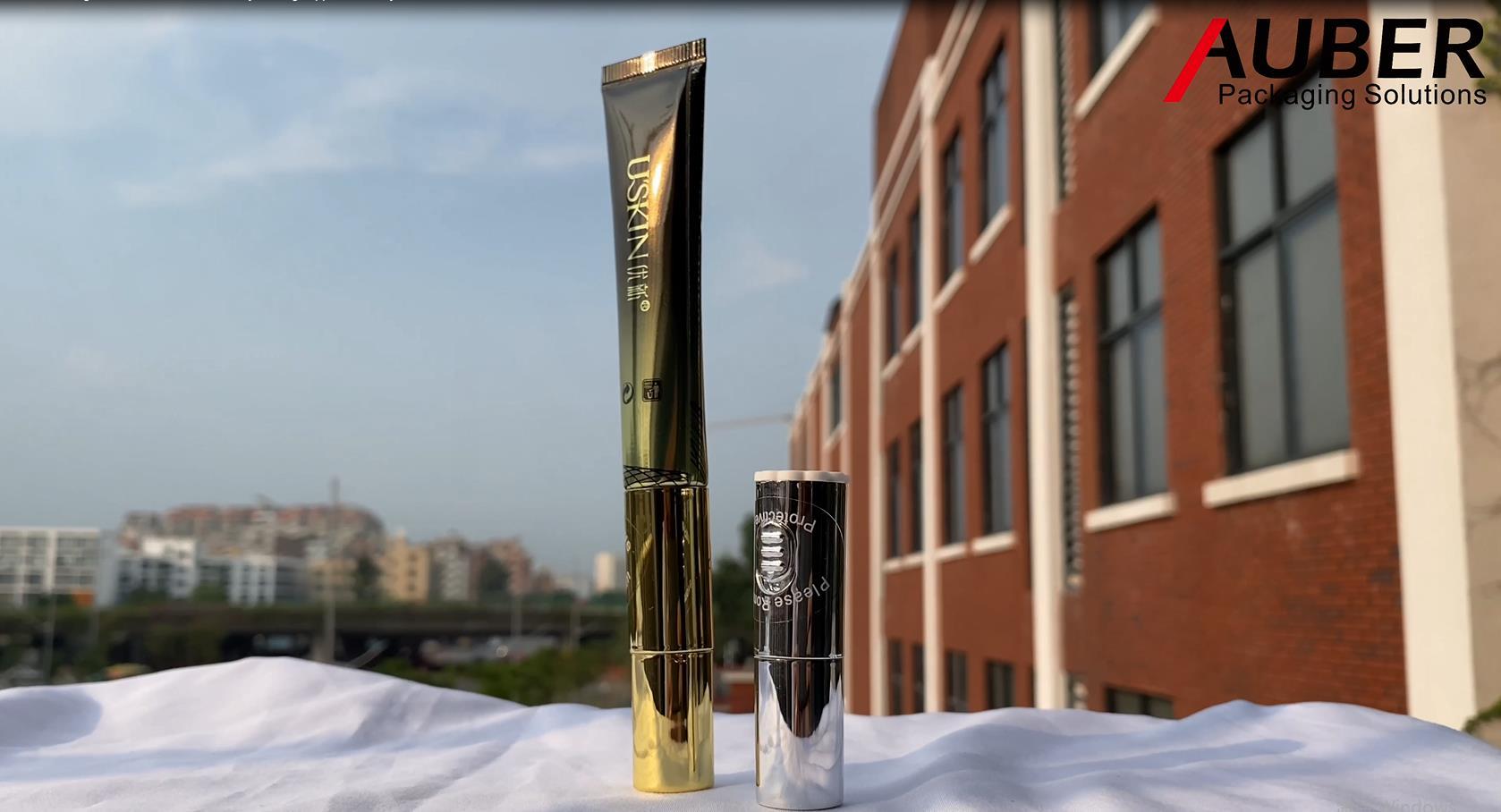 Auber D19mm عالية لامعة طلاء الألومنيوم أنبوب مغلفة مع قضيب تدليك سبائك الزنك لجوهر العين