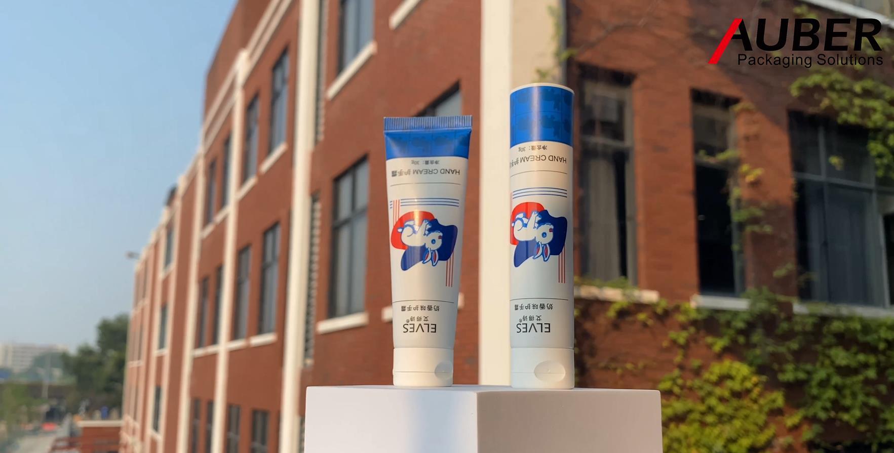 Auber D25MM أنبوب مغلفة لصناعة معجون الأسنان مع غطاء أعلى فليب