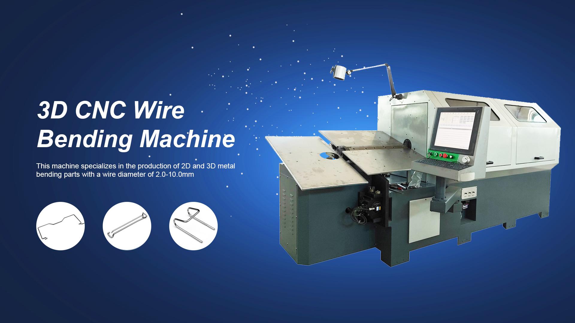 Máquina de flexión de alambre CNC controlada por computadora