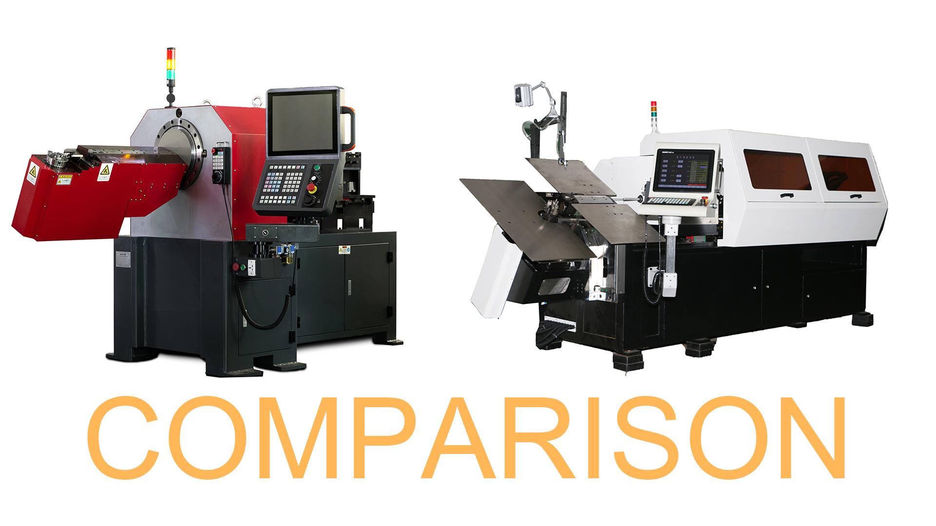 İki farklı 3D CNC tel bükme makinelerinin karşılaştırılması videosu