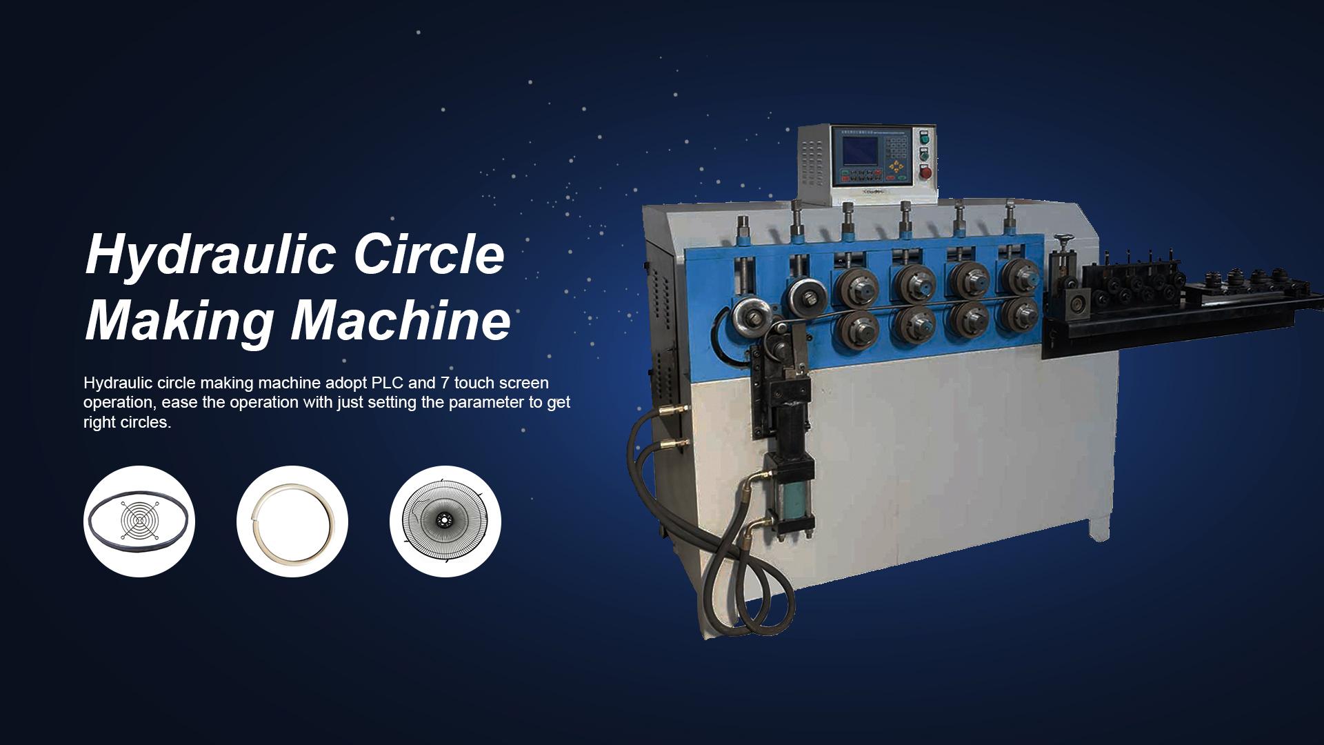 Stroj na výrobu hydraulického kruhu