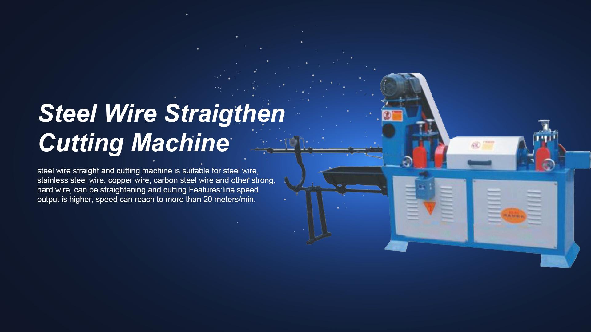 Machine de redressement et de découpe de fil