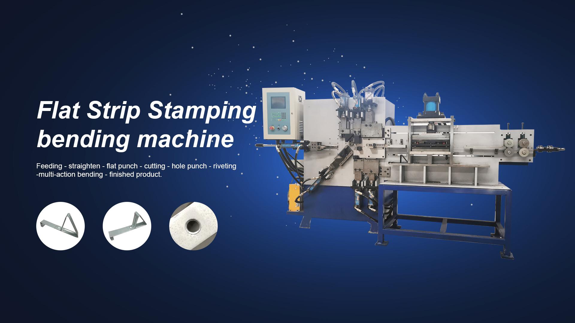 Faixa plana estampando máquina de dobra