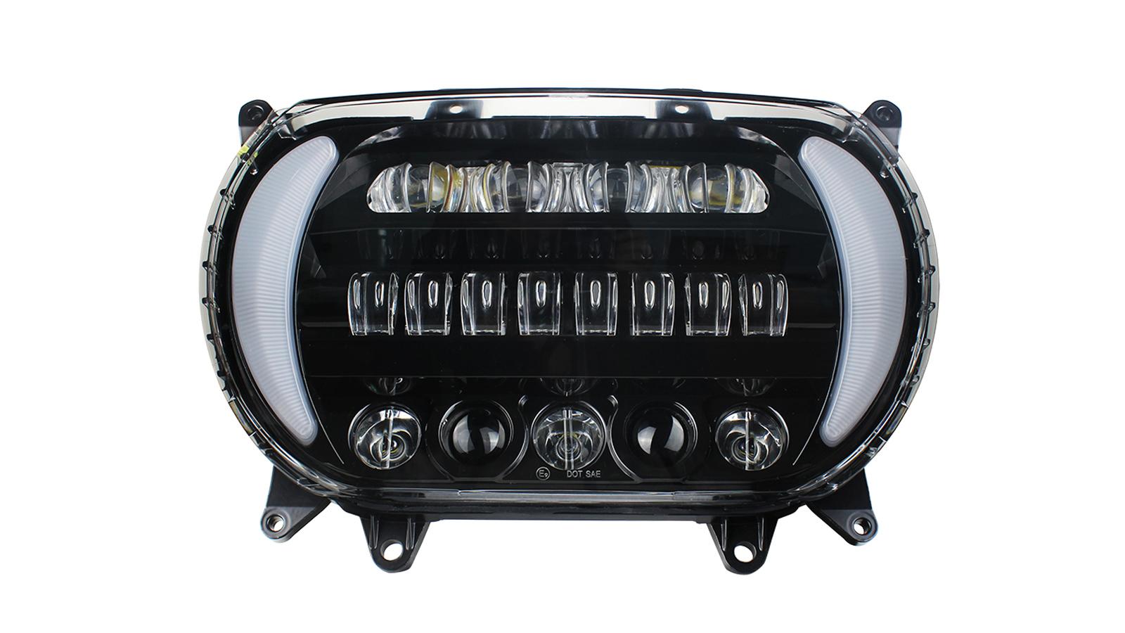 Proiettore faro a LED DRL Amber Turn Signal Segnale Kit per Harley Road Glide 2015+ Produttori dalla Cina