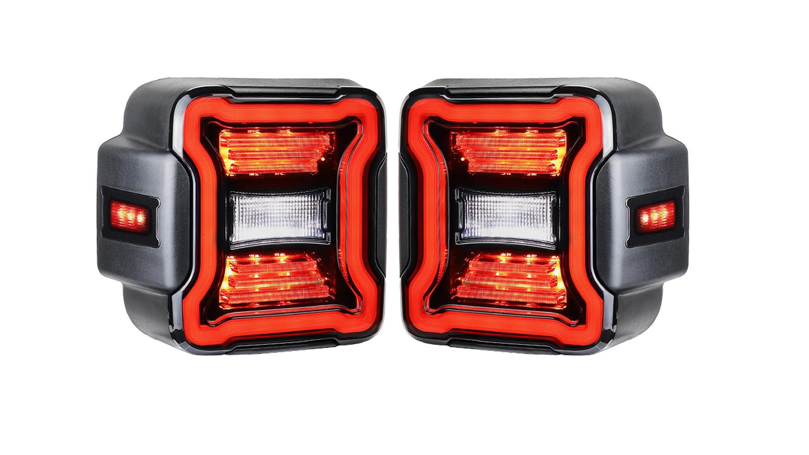 الولايات المتحدة الأمريكية نسخة لعام 2018 2019 جيب رانجلر JL LED الذيل ضوء الفرامل عكس بدوره إشارة المصابيح الخلفية