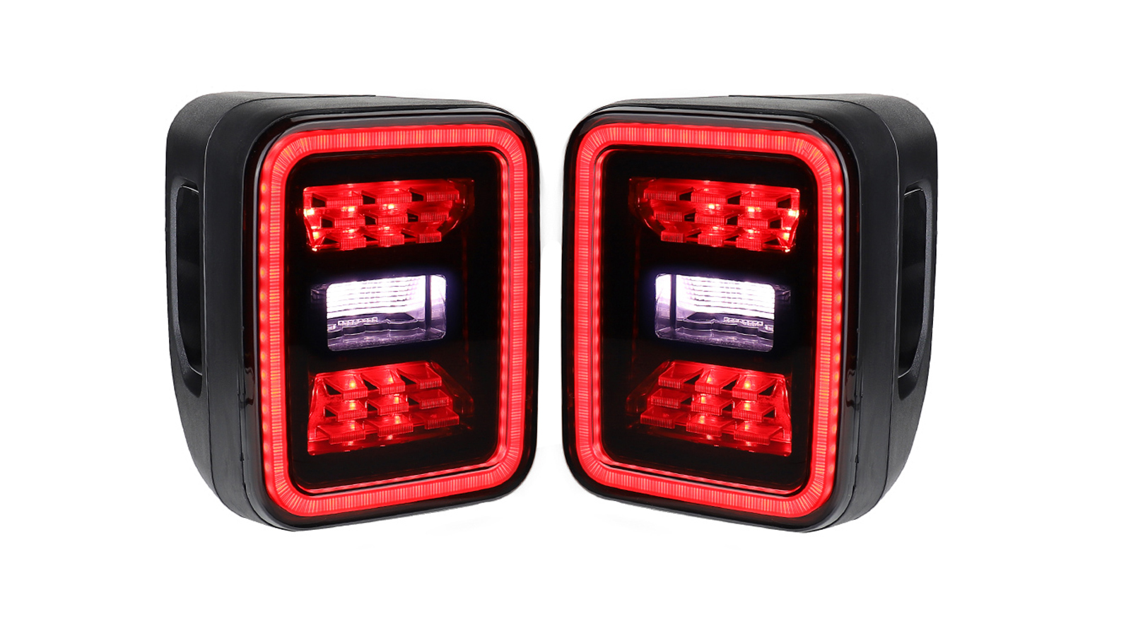 USA Smoked LED Tail Lights DRL Brake Reverse Turn Signal for 2020+ Jeep Gladiator JT
