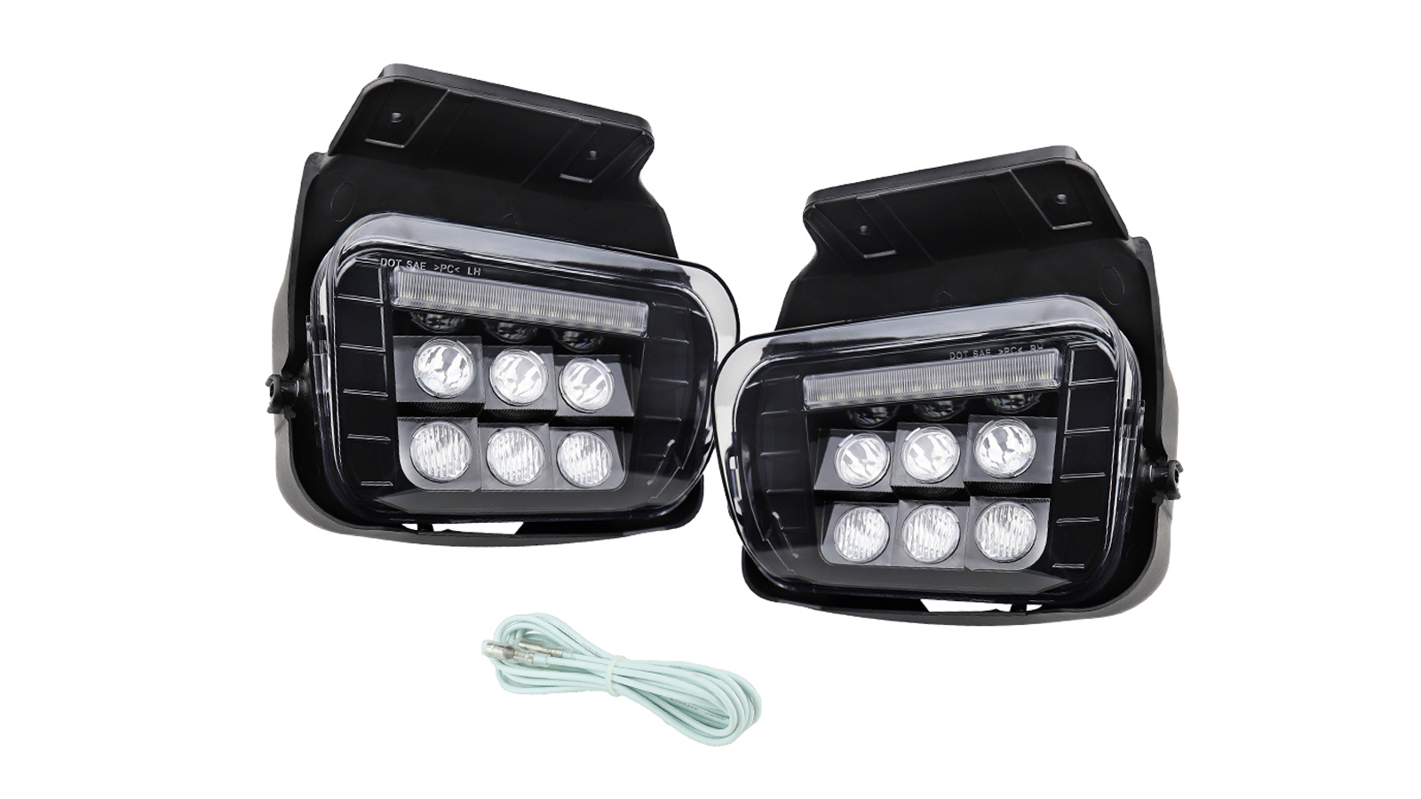 Pair For 2003-2006 Chevy Silverado/Avalanche LED Front Bumper Fog Light Lamp W/DRL